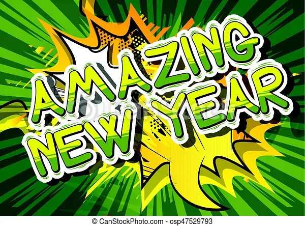 Amazing new year   comic book style word  Amazing new year   comic     Amazing New Year   Comic book style word    csp47529793