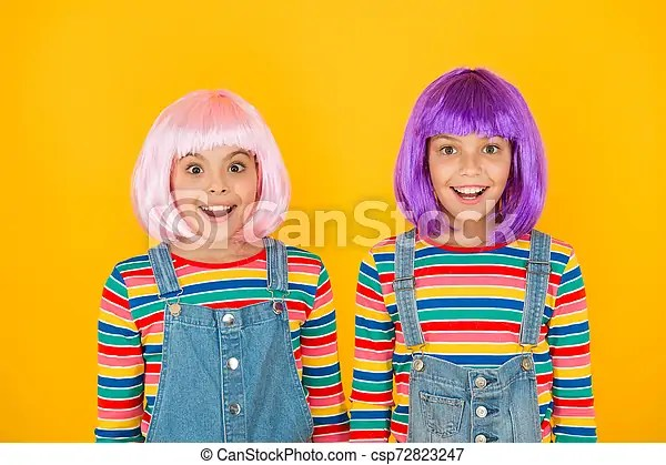Any entity that lends itself to dramatic. Anime Convention Happy Little Girls Anime Fan Cheerful Friends In Colorful Wigs Anime Cosplay Party Concept Animation Canstock