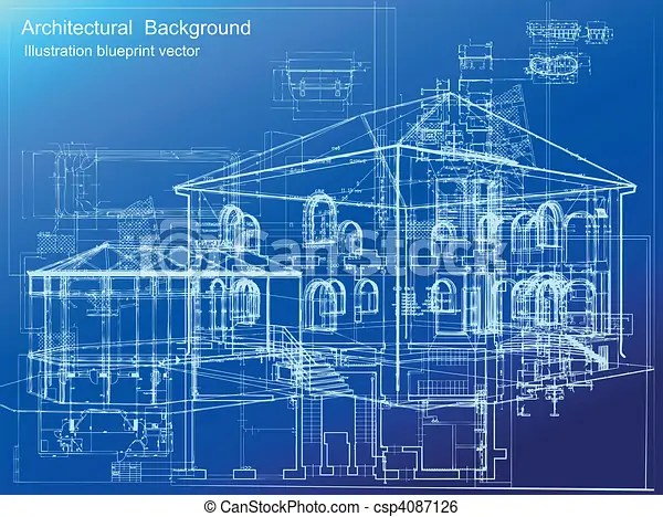 Architectural Blueprint Background Vector Architectural White Plan Blueprint Background Vector Illustartion Canstock
