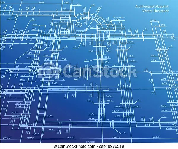 Architecture Blueprint Background Vector Architecture House Plan Background Vector Illustration On Blue Canstock