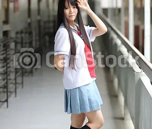 Asian School Girl Csp27185447