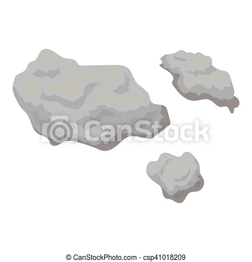 Asteroid icon in monochrome style isolated on white ...