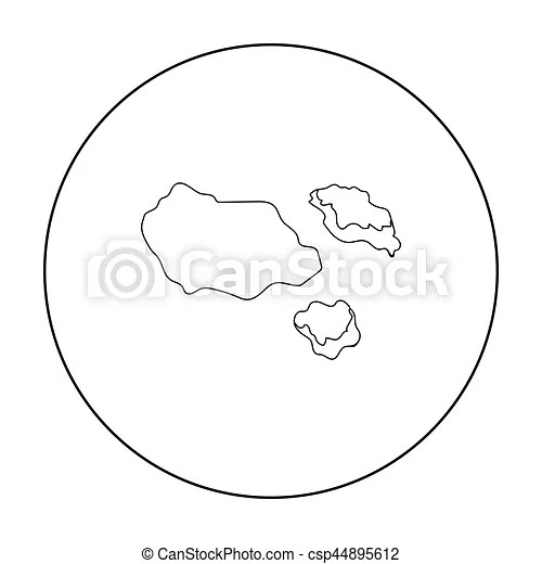 Asteroid icon in outline style isolated on white ...