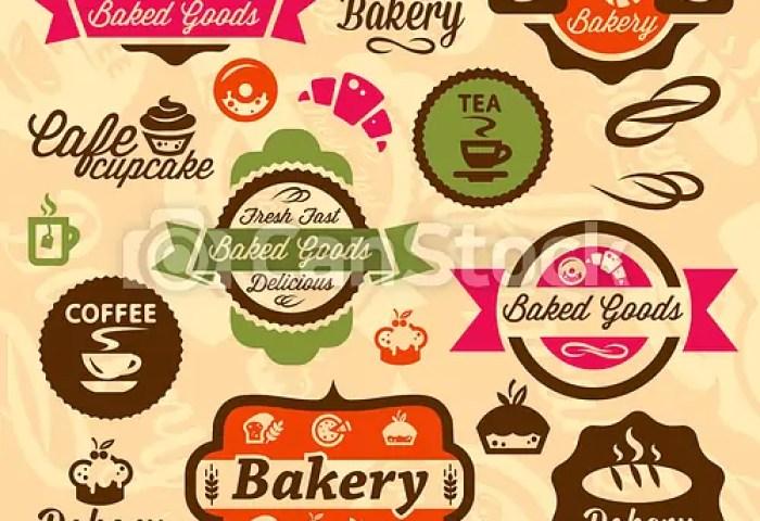 Bakery Badges And Label Elegant Vector Bakery Labels And Badges Set