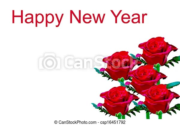 red rose happy new year