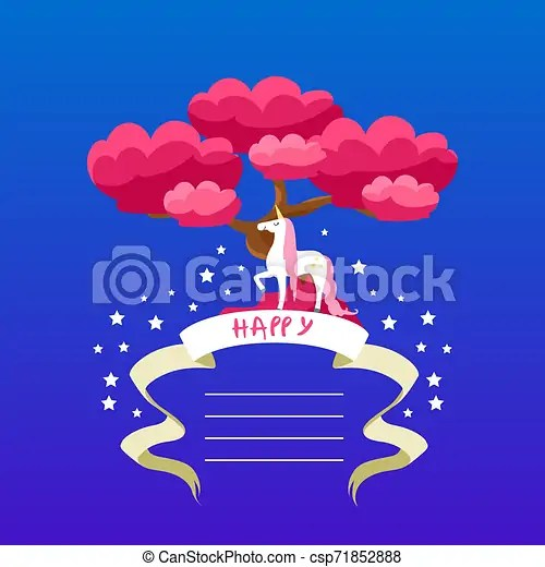 https www canstockphoto com beautiful unicorn card template with 71852888 html