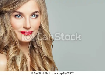 Beautiful Woman Face Closeup Portrait
