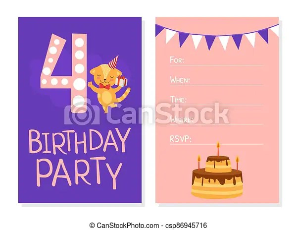 https www canstockphoto com birthday invitation card template cute 86945716 html