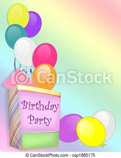 https www canstockphoto com birthday party invitation background 1885175 html