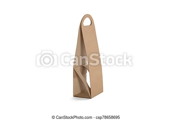Maybe one of them is. Blank Craft Wine Folding Bag Mockup Side View Empty Carton Bottle Package With Handle For Carrier Mock Up Isolated Clear Canstock