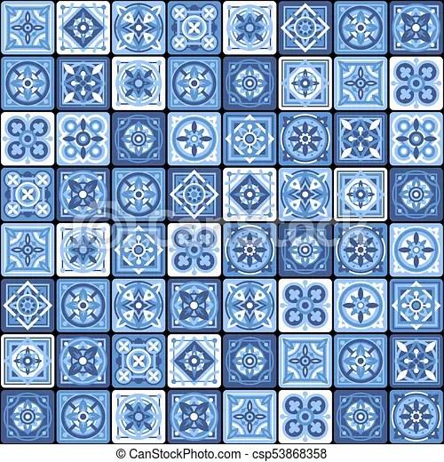 https www canstockphoto com blue portuguese ceramic mosaic tile 53868358 html