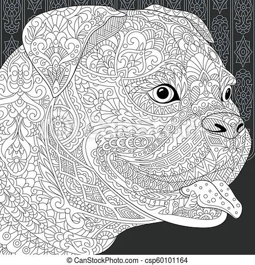 Bulldog Coloring Page Bulldog Pit Bull Terrier Dog Line Art Coloring Book Page