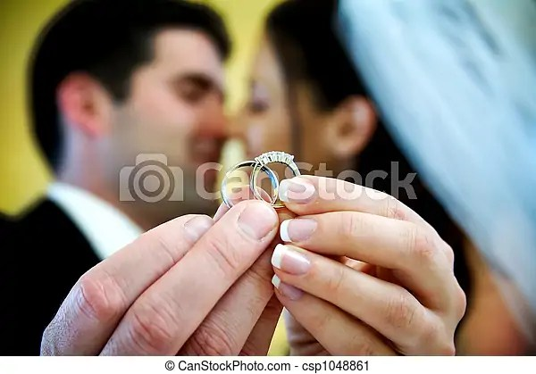 Stock Photography Of Wedding Ring The Bride And Groom