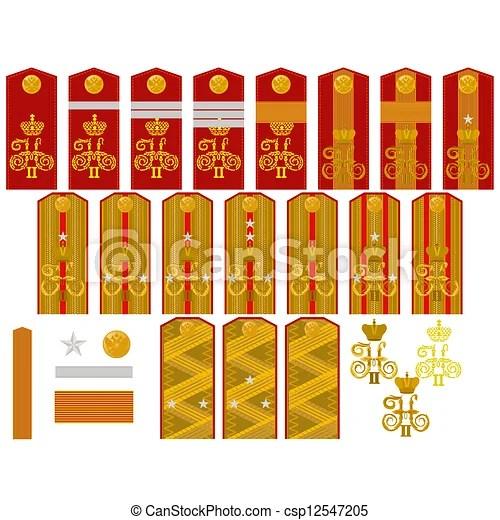 Banco de ilustra231227o insignia russo Imperial ex233rcito
