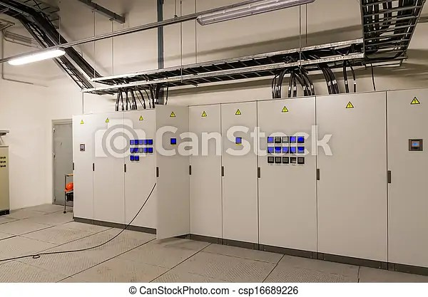 Switchgear In Electrical Room Stock Photo - Instant Download - csp16689226