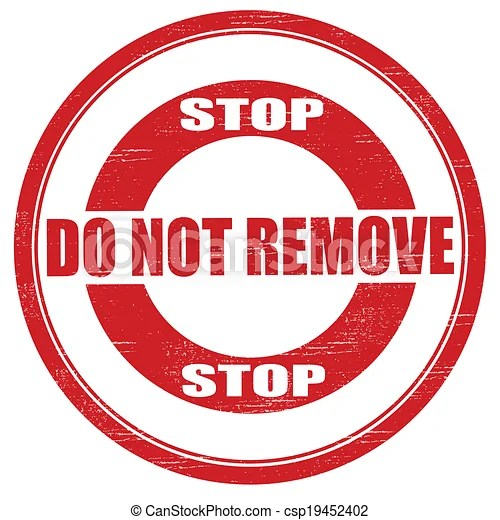 Vector Clipart of Do not remove - Stamp with text do not ...