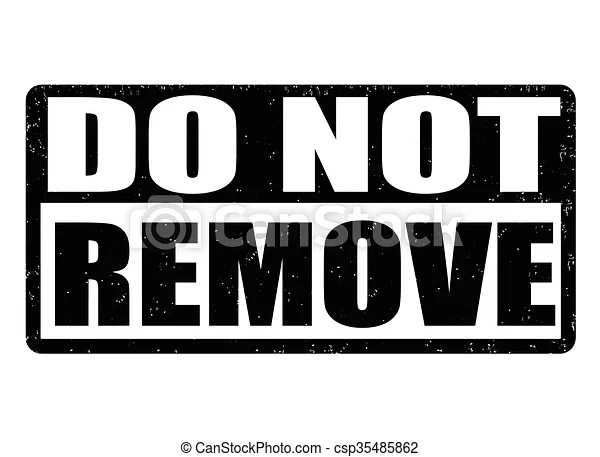 Clip Art Vector of Do not remove stamp - Do not remove ...
