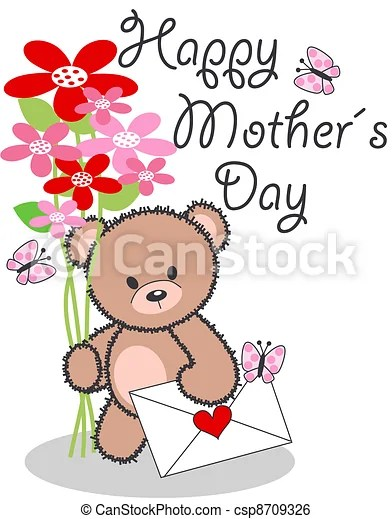 Clip Art Vector of happy mothers day csp8709326 - Search ...