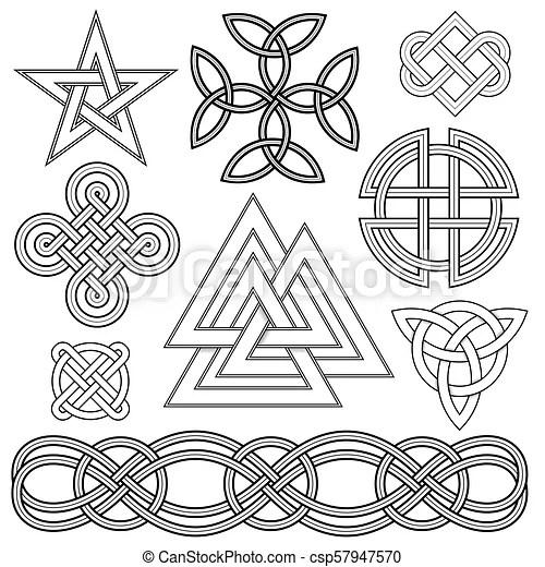 Celtic Knot Design Elements Set Of Editable Vector Celtic Knot Designs
