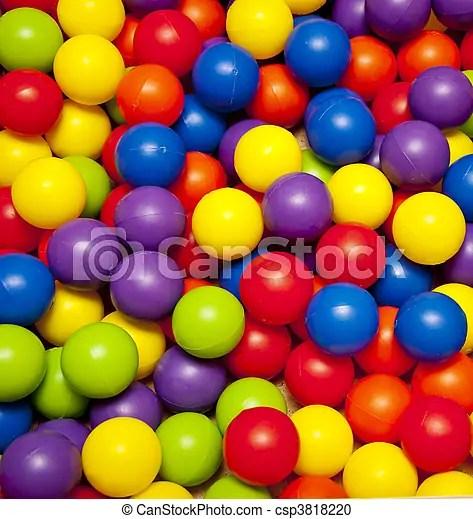 Colour balls Background colorful plastic balls on