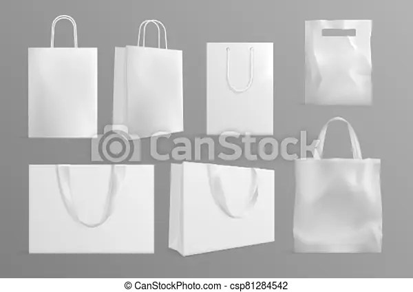 Grasp any of your favorite shopping bag mockup psd. Eco Bag Mockup Realistic Canvas Paper Handbags Modern Material Or Cotton Reusable Packs For Shoppers White Shopping Canstock