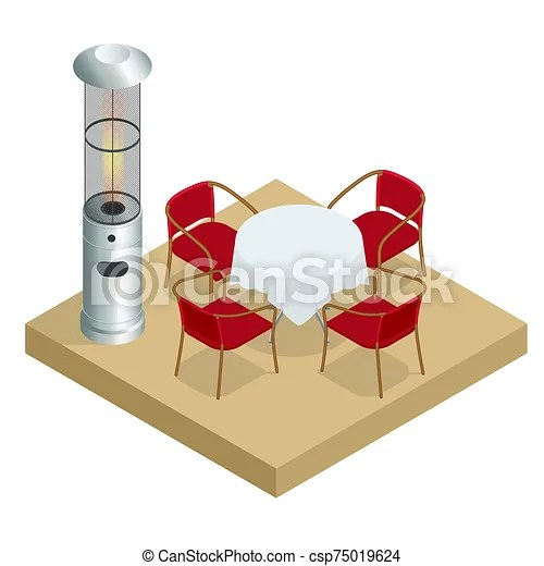 https www canstockphoto com electric gas patio heater isometric 75019624 html