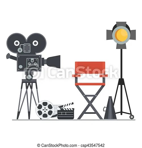 Film set director chair. Film directors chair with ...