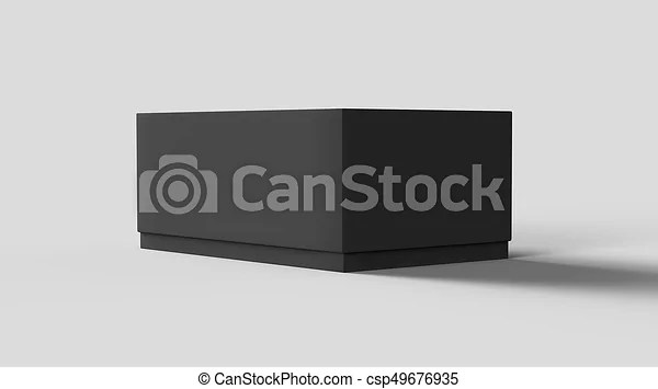 Download Flat black box mockup, blank box template isolated on grey ...