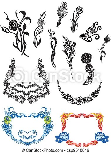 https www canstockphoto com flower art nouveau patterns 9518846 html