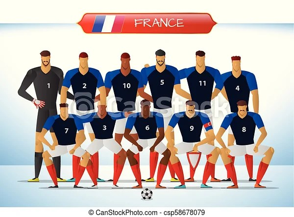 Can you hear the drumlines rattling? France National Football Team For International Tournament Vector Illustration Canstock