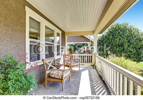 https www canstockphoto com front covered porch with outdoor 39722186 html