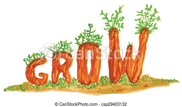 Download Grow word art illustration. An abstract illustration of ...