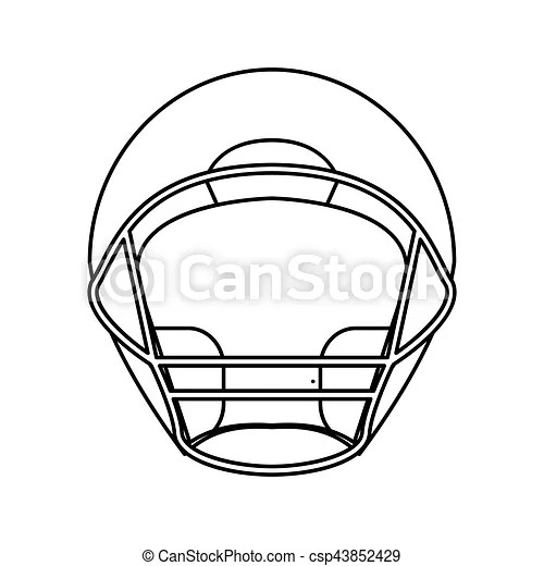 Download this american football, ball, outline, rugby, set, sports icon in outline style from the football & soccer category. Helmet American Football Front View Outline Vector Illustration Eps 10 Canstock