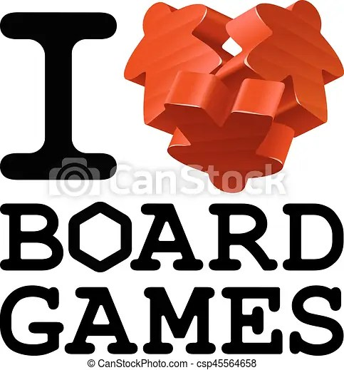 Download Vector red meeples in the shape of heart. wooden game ...