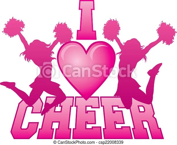 Download I love cheer. Illustration of a cheer design for ...