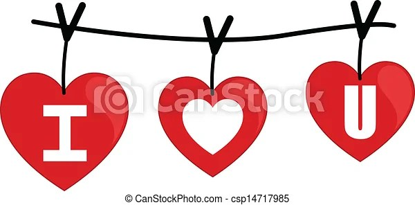 Download I love you on wire vector. Drawing art of i love you text ...