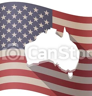 HD Decor Images » Isolated usa flag with a map of australia  Illustration of an     Isolated USA flag with a map of Australia   csp49366645