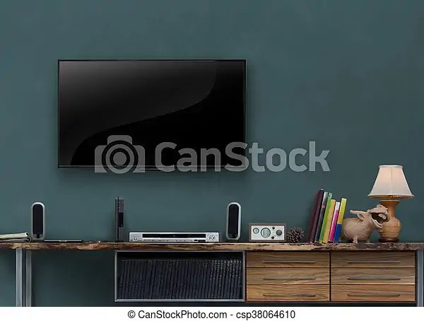 https www canstockphoto com led tv wooden media furniture with gray 38064610 html