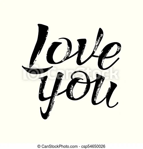 Download Letters calligraphy, love you, hand drawing. Letters hand ...