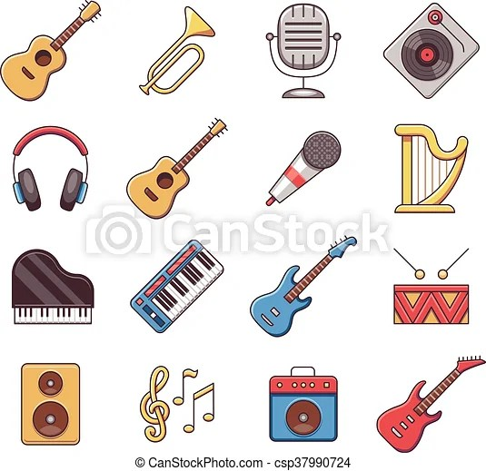 https www canstockphoto com linear music instruments vector color 37990724 html