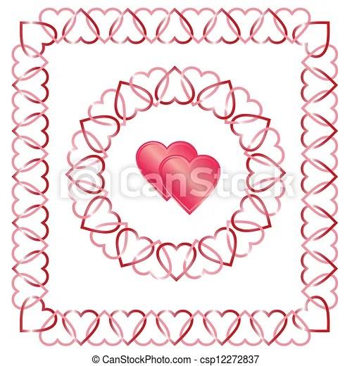 Download Love heart border, frame, corner, c. Love you valentine's ...