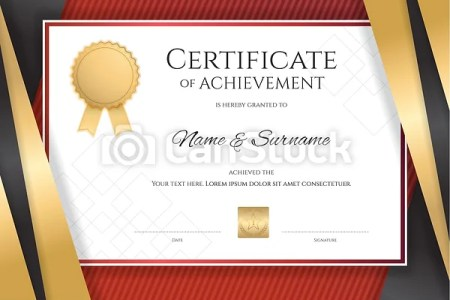 Luxury certificate template with elegant golden border frame     Luxury certificate template with elegant golden border frame  Diploma design  for graduation or completion