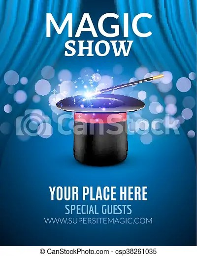 Magic Show Poster Design Template Magic Show Flyer Design