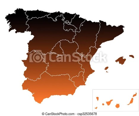 Map of Spain Map of Spain   csp32535678