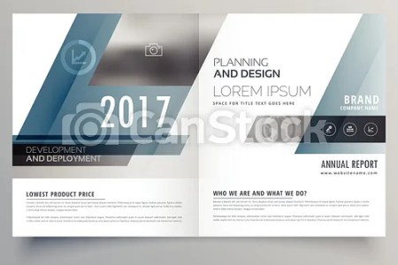 Modern business bifold brochure template with abstract shapes  modern business bifold brochure template with abstract shapes   csp42131463