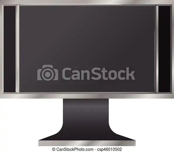 Modern Digital Computer Screen Mockup Realistic Illustration Of