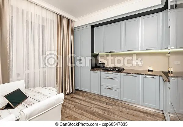 Modern Kitchen Interior Modern Light Grey Kitchen Clean Design