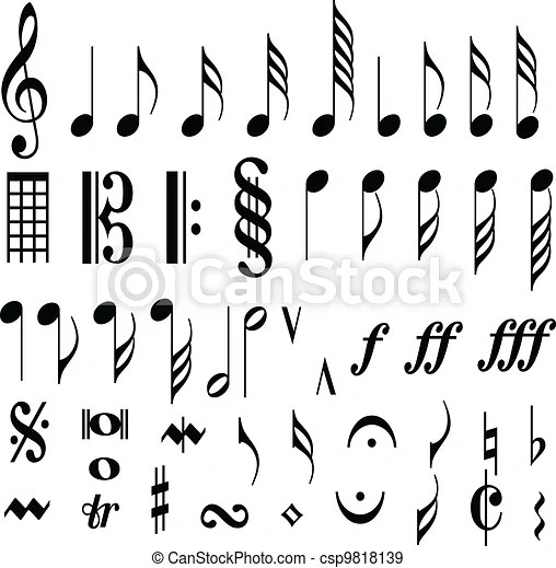 Musical Notes Musical Notes On Bars Of Written Music