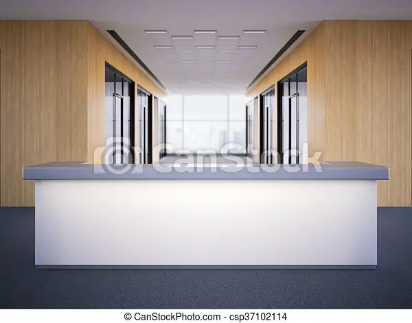https www canstockphoto com office lobby with a reception desk 3d 37102114 html