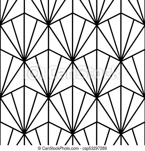 Seamless Geometric Pattern In Art Deco Style
